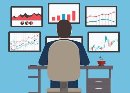 Network monitoring (monitoring jaringan) ilustration