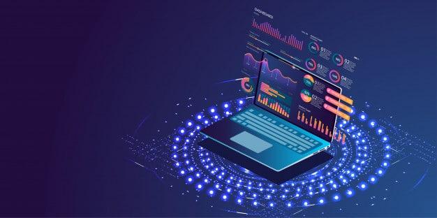 komputer, monitoring illustration